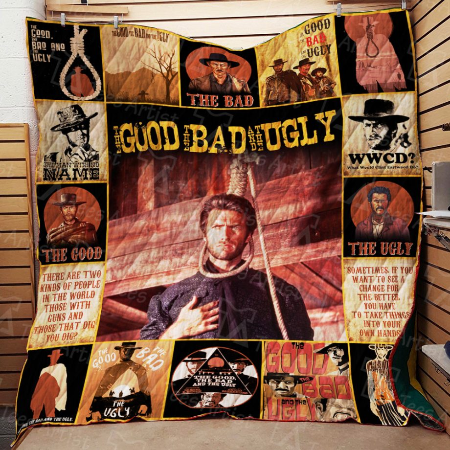 The Good, the Bad and the Ugly Quilt Blanket 01938