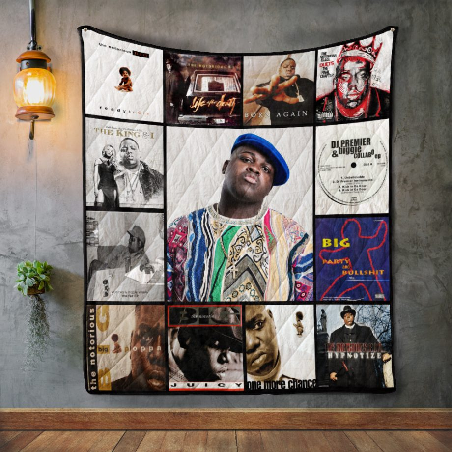 The Notorious B.I.G Album Covers Quilt Blanket