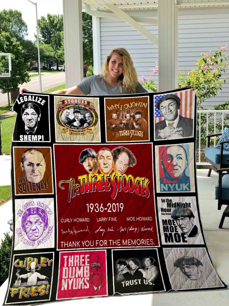 The Three Stooges Quilt Blanket 01