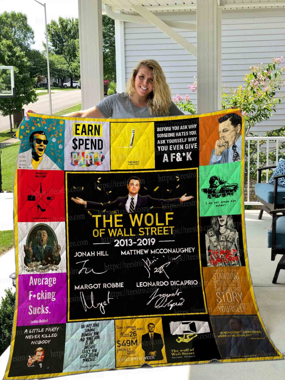 The Wolf of Wall Street Quilt Blanket 01