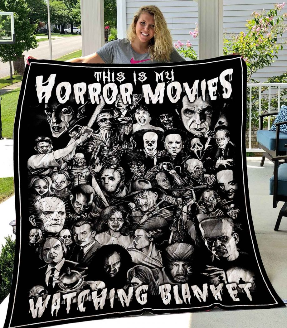 This Is My Horror Movies Watching Blanket vr2 Quilt0489