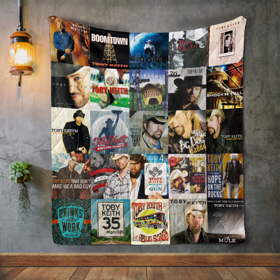 Toby Keith Album Covers Quilt Blanket