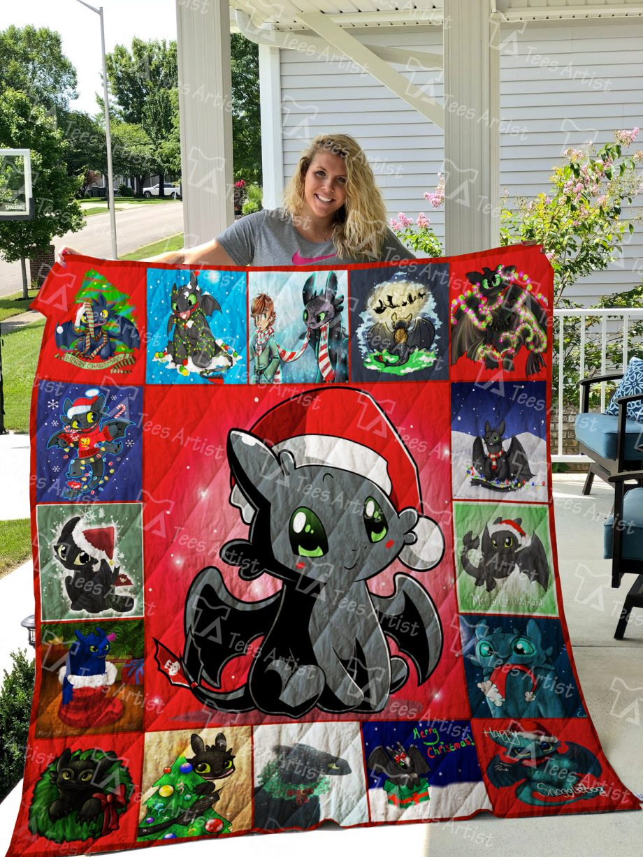 Toothless Xmas Quilt Blanket 01929