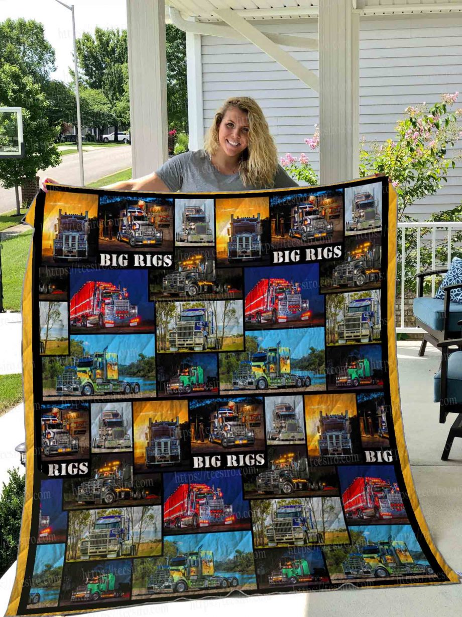 Truck big rigs Quilt Blanket 01