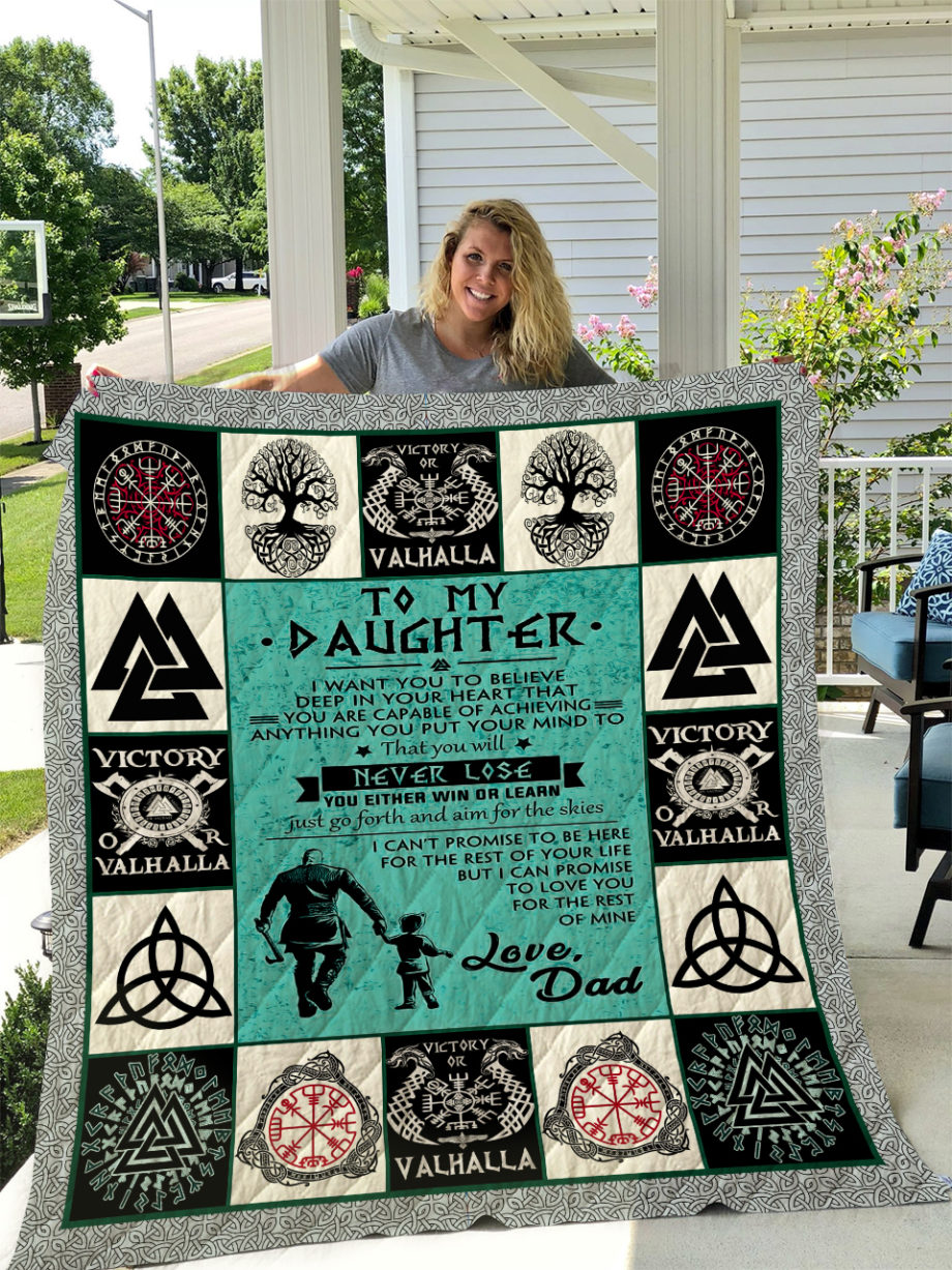 Viking  TO MY DAUGHTER  LOVE DAD Quilt KP-251