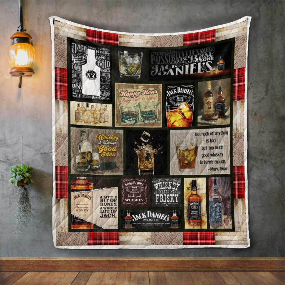 Whiskey Is Always A Good Idea Quilt Blanket