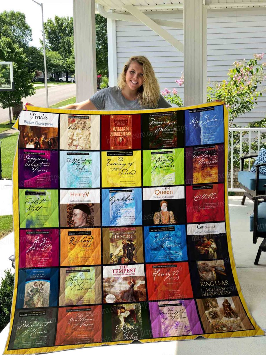 William shakespeare collection Quilt Blanket 01