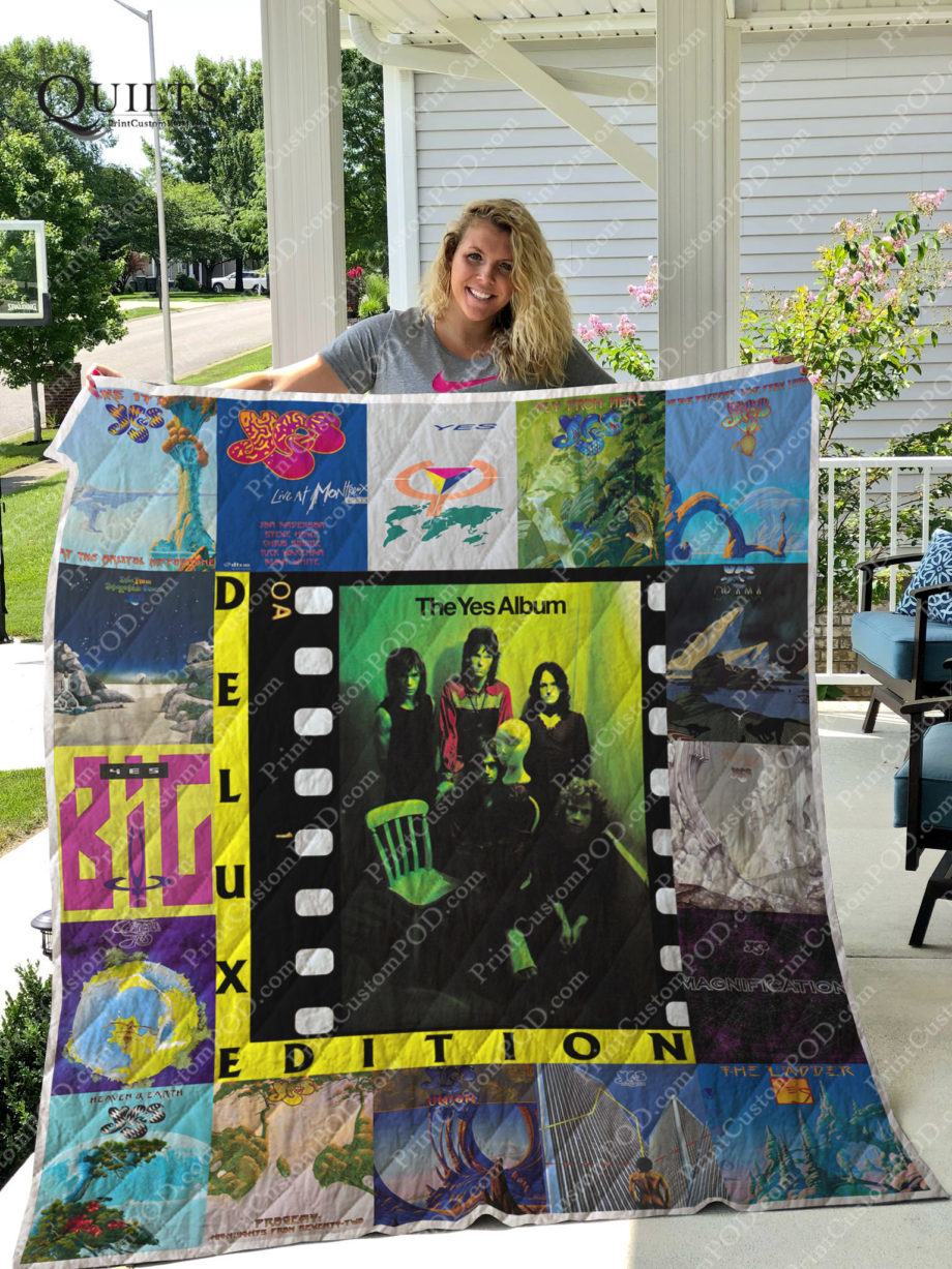 Yes Band Quilt Blanket For Fans Ver 17 KP-187