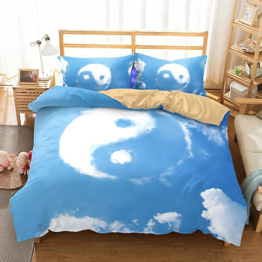 Yin And Yang Taiji Theme Printing Bedroom Home Decoration  Cover Quilt Covers3D Customize Bedding Set/ Duvet Cover Set/  Bedroom Set/ Bedlinen KP-123