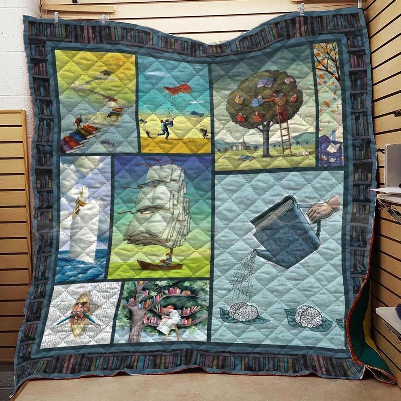 Book Tree Quilt