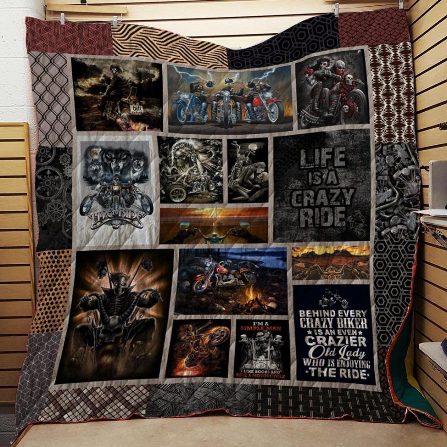 Motorcycles Washable Handmade Quilt 1611 01