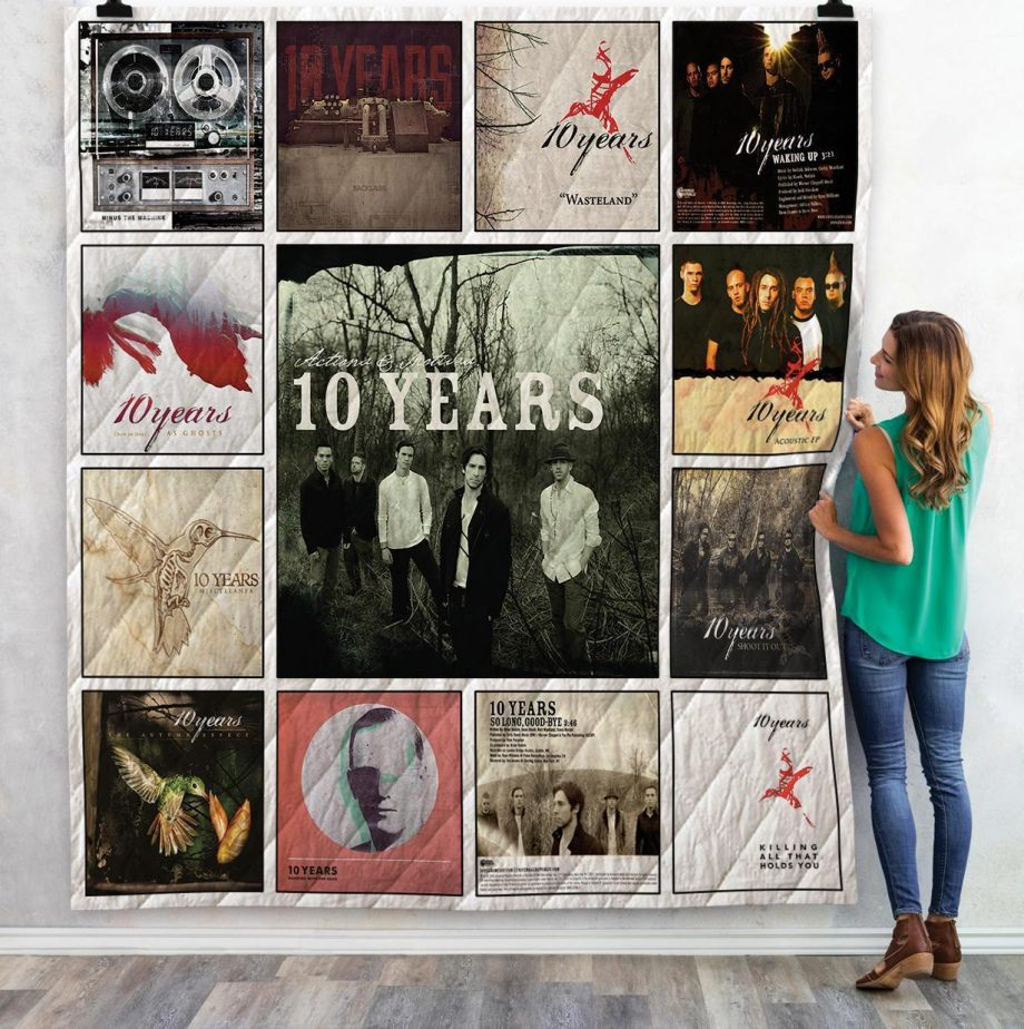 10 Years Singles Albums Quilt Blanket 02