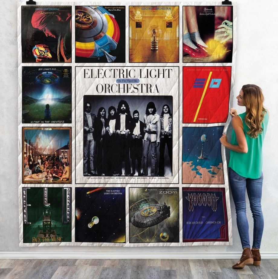 Electric Light Orchestra Albums Quilt Blanket 02