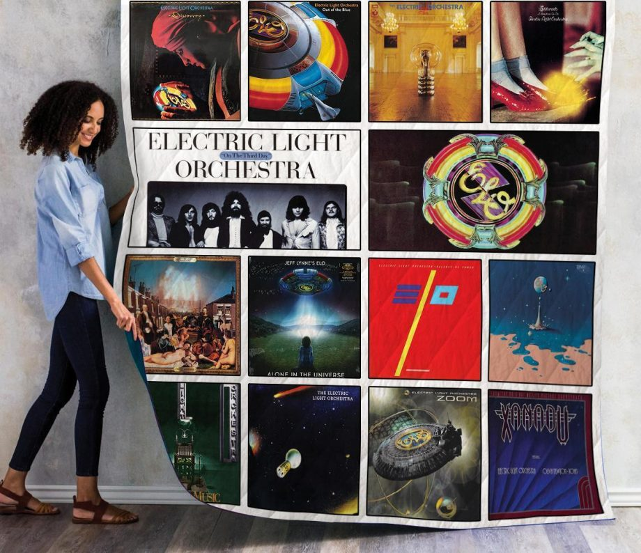 Electric Light Orchestra Albums Quilt Blanket 01
