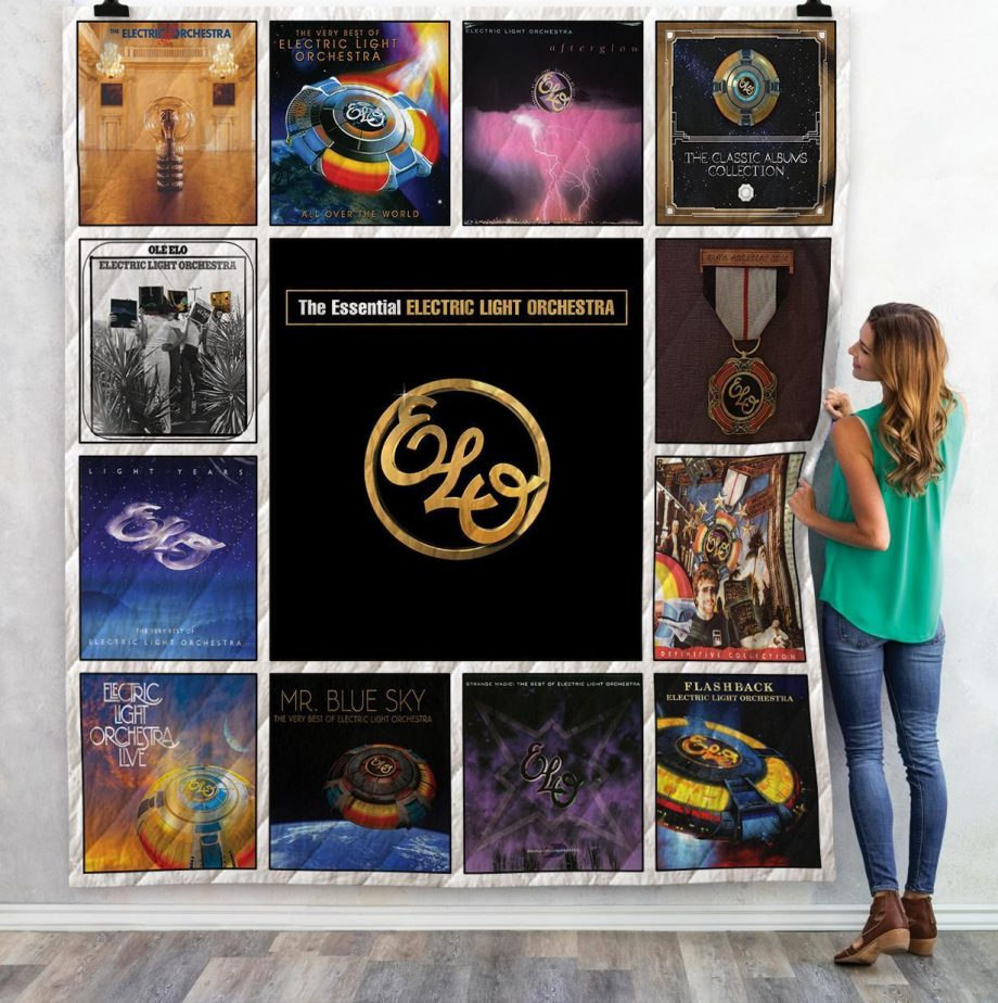 Electric Light Orchestra Complication Albums Quilt Blanket 02