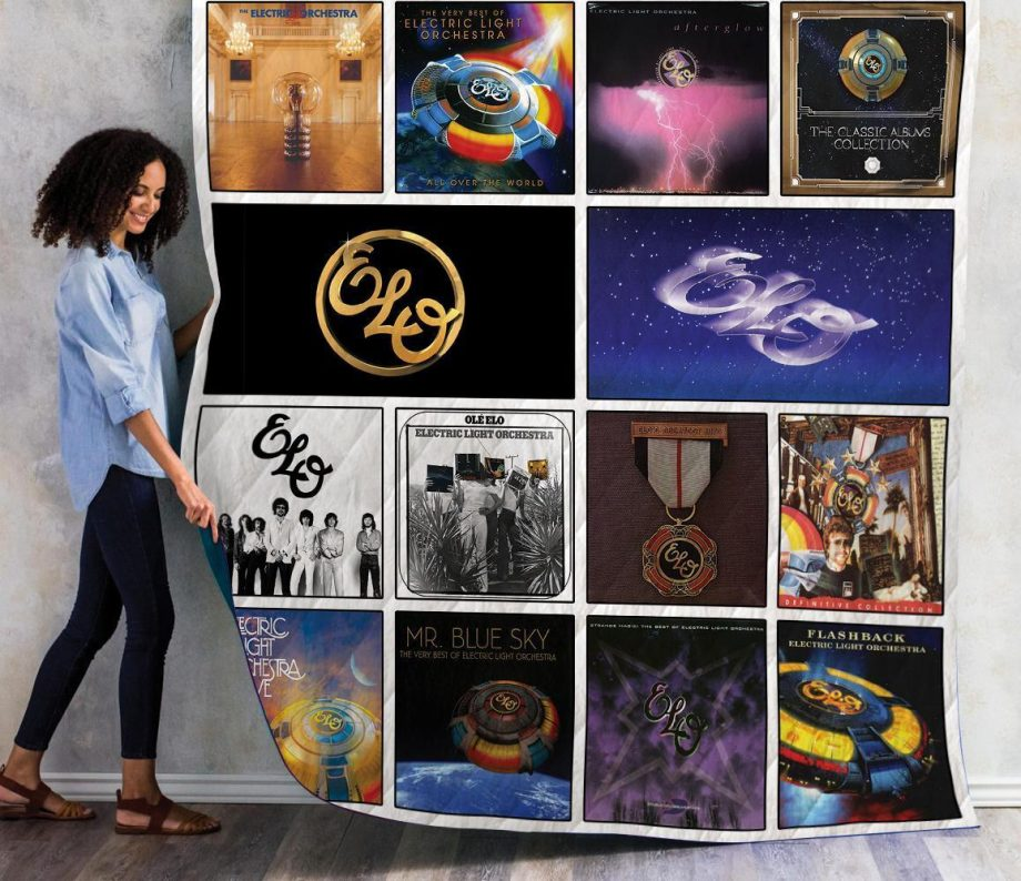 Electric Light Orchestra Complication Albums Quilt Blanket 01