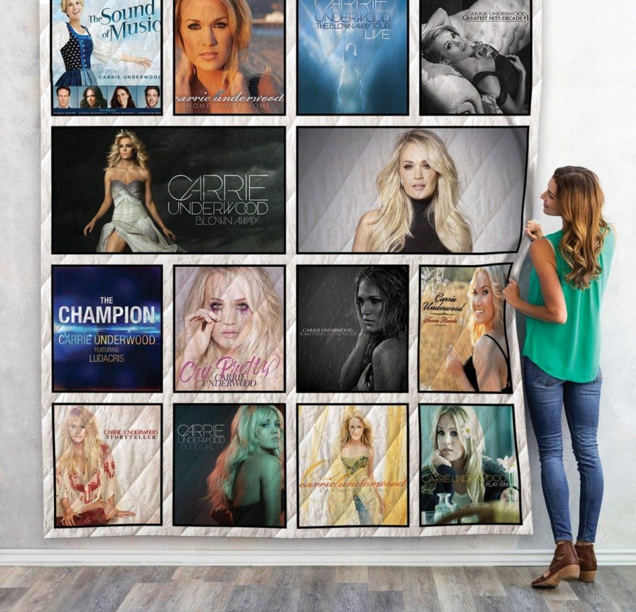Carrie Underwood Albums Quilt Blanket 02