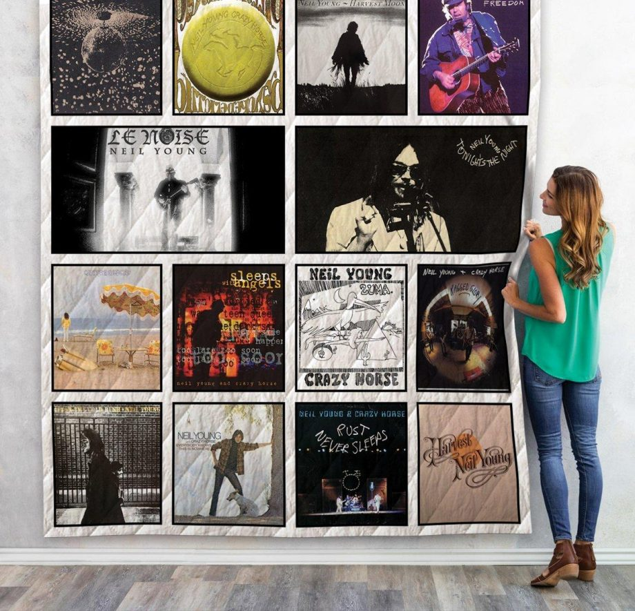 Neil Young Albums Quilt Blanket 02