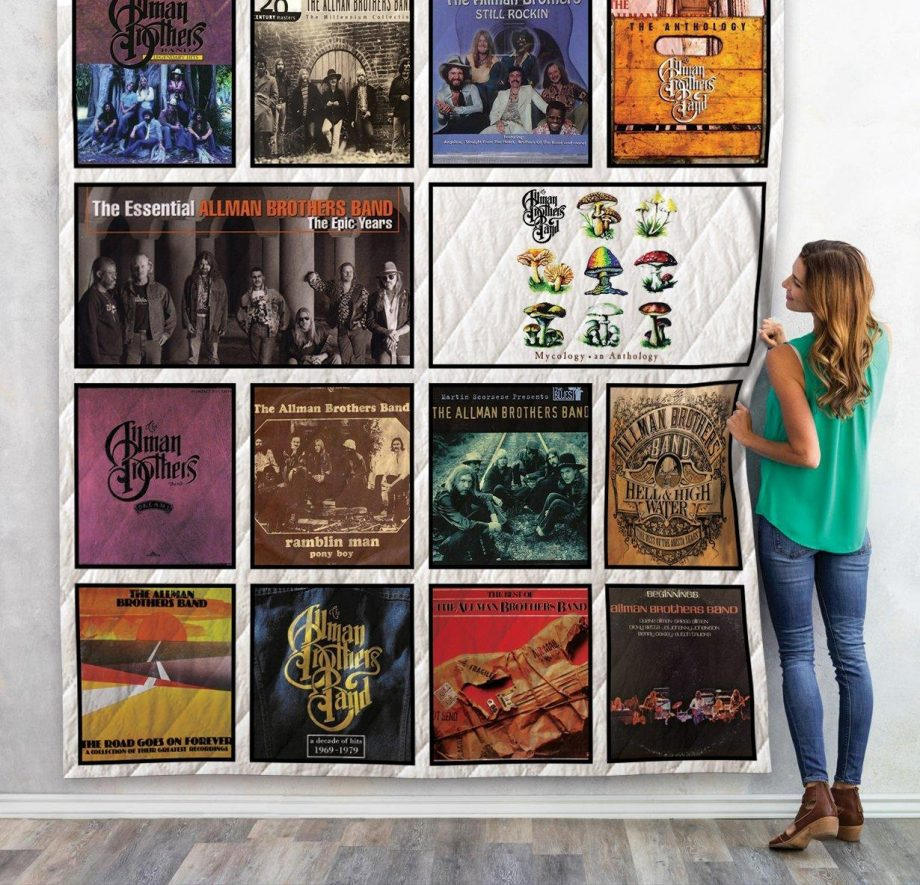 The Allman Brothers Compilation Albums Quilt Blanket 02