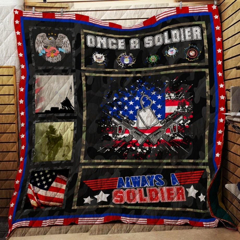 Once A Soldier, Always A Soldier Quilt R148