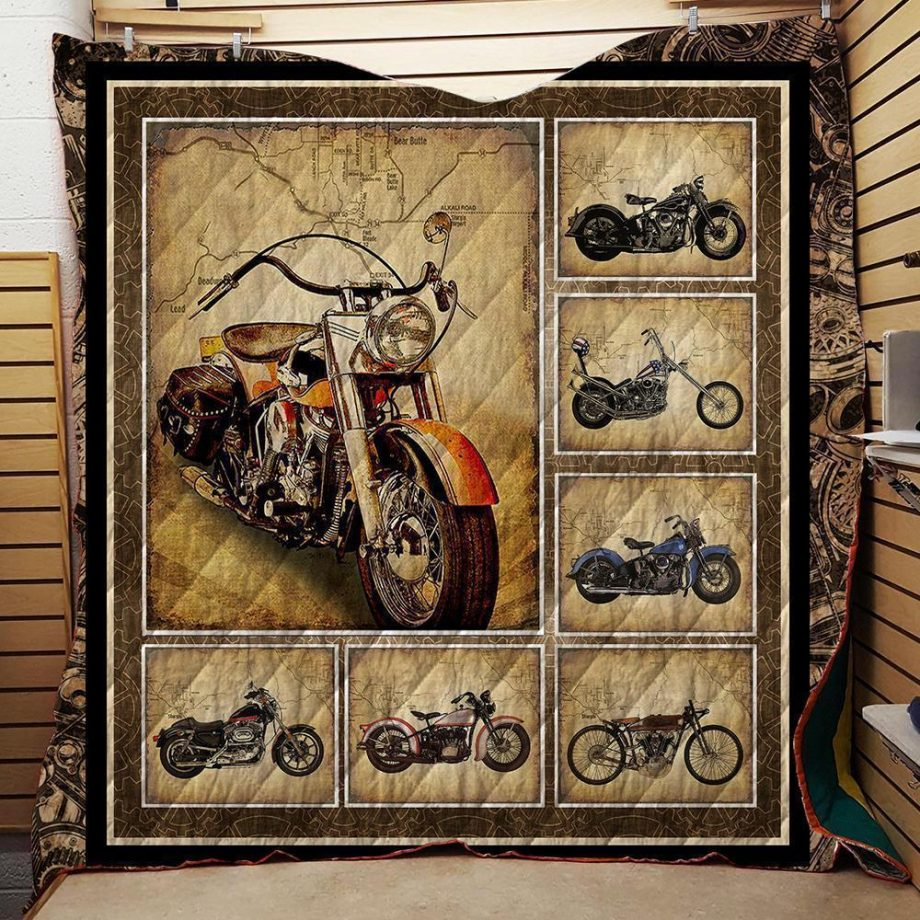 Motorcycles Washable Handmade Quilt 211102