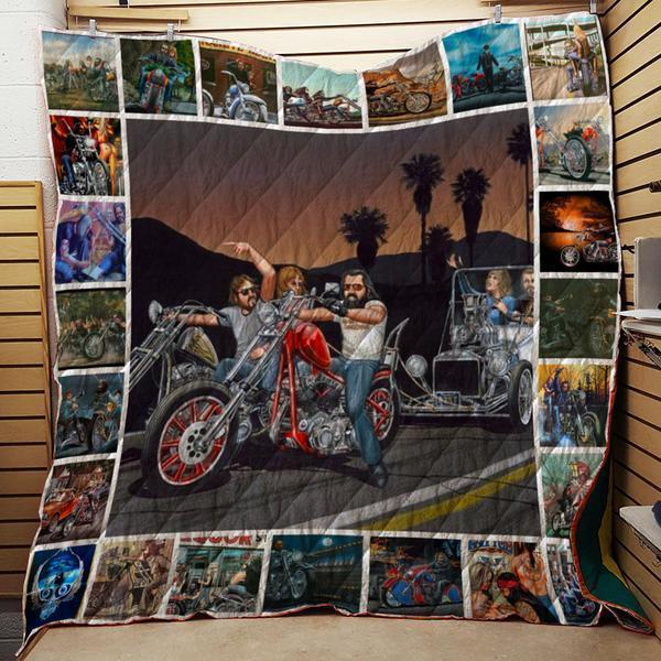 Motorcycles Art Collection Quilt