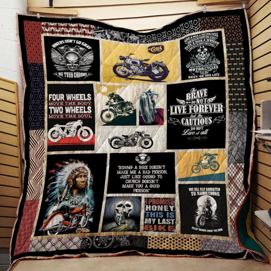 Motorcycles Washable Handmade Quilt 031201