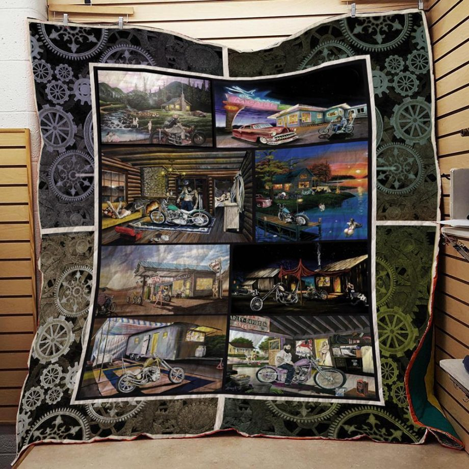 Motorcycles Anthony Hicks Art Washable Handmade Quilt 111205
