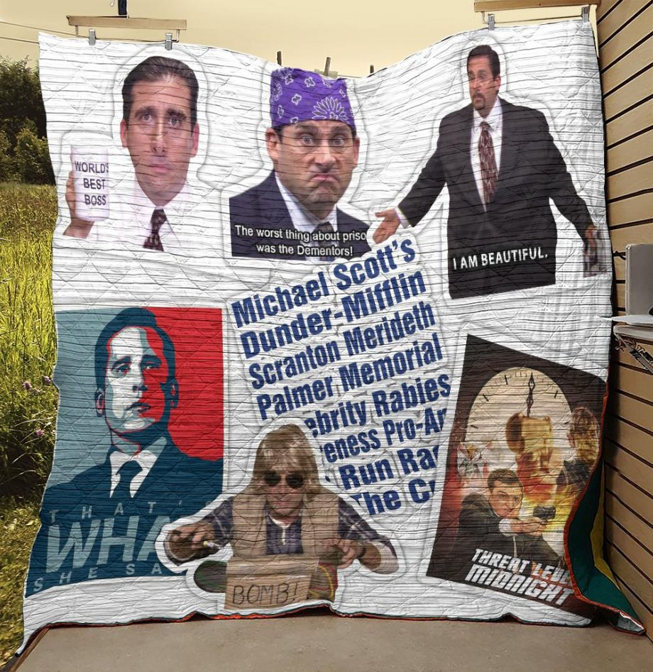 Michael Scott Best Quotes And Images Quilt Blanket