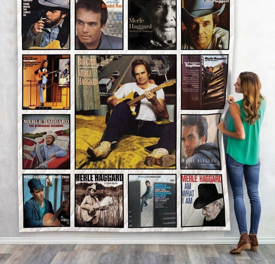 Merle Haggard Quilt Blanket For Fans 01