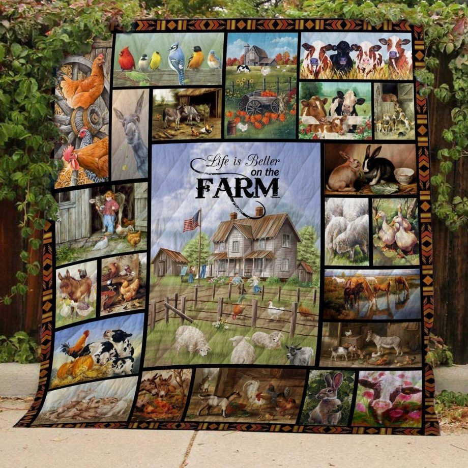 Life Is Better On The Farm Quilt