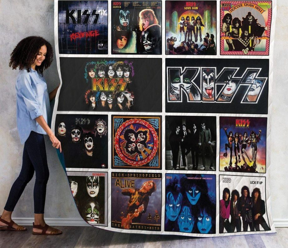 Kiss Quilt Blanket For Fans New Arrival 01