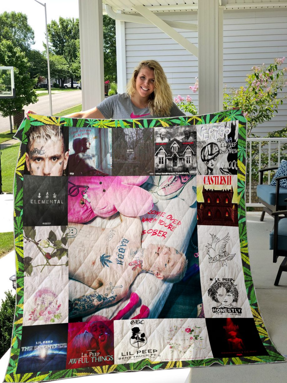 Lil Peep Style 2 Album Covers Quilt Blanket