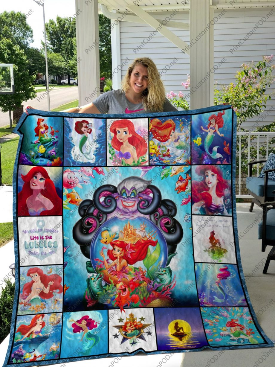 H KP8211 The Little Mermaid Quilt Blanket