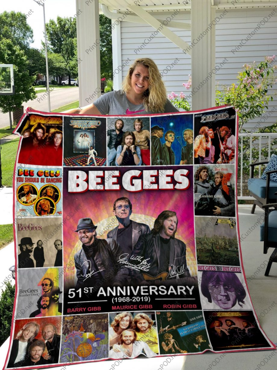 H -Bee Gees Quilt Blanket