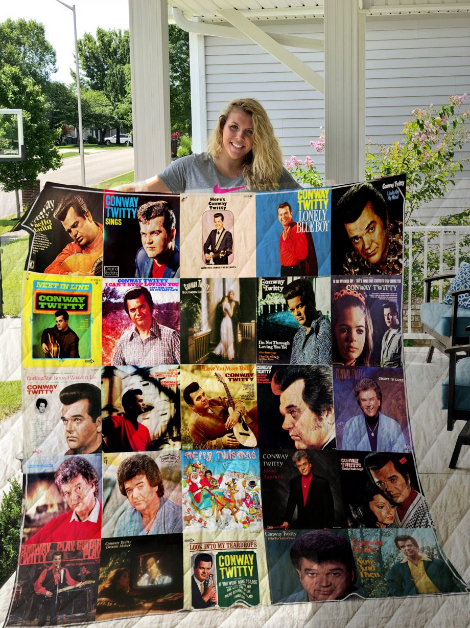 Conway Twitty Style Two Quilt Blanket