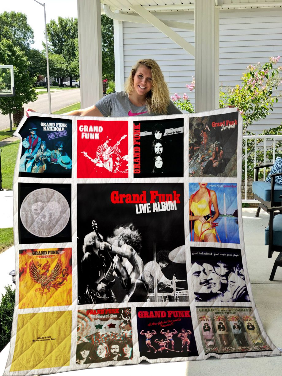 Grand Funk Railroad Style Two Quilt Blanket