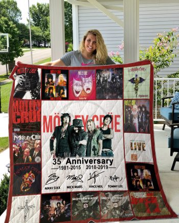35 Years Of Mötley Crüe Thank You For The Memories Quilt Blanket