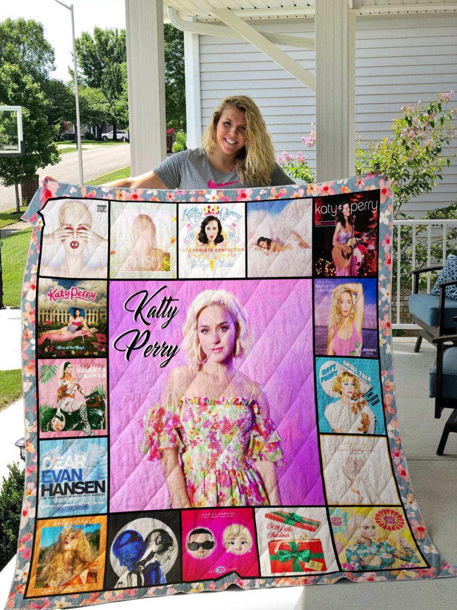 Katy Perry Style 2 Album Covers Quilt Blanket