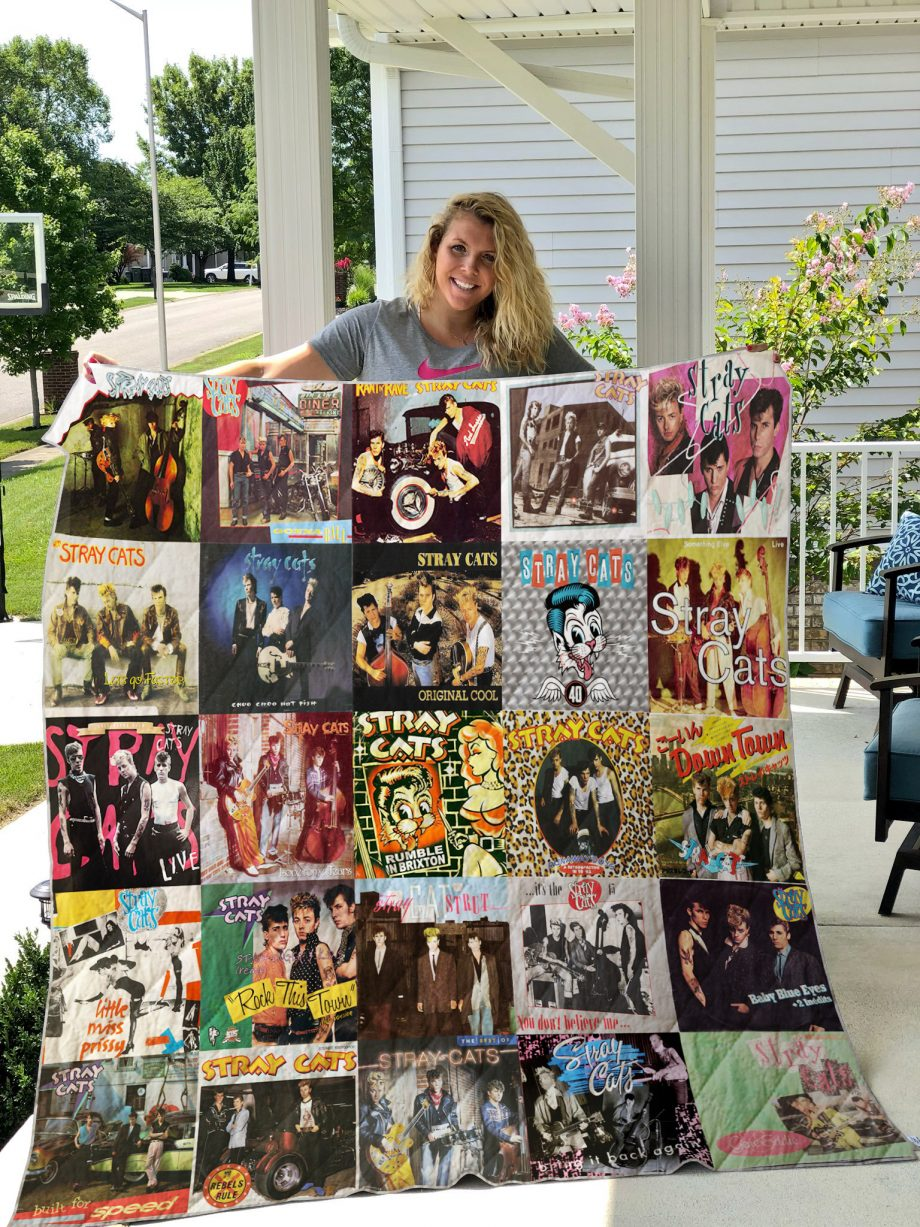 Stray Cats Quilt Blanket