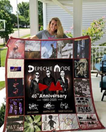 40 Years Of Depeche Mode 1980-2020 Quilt Blanket