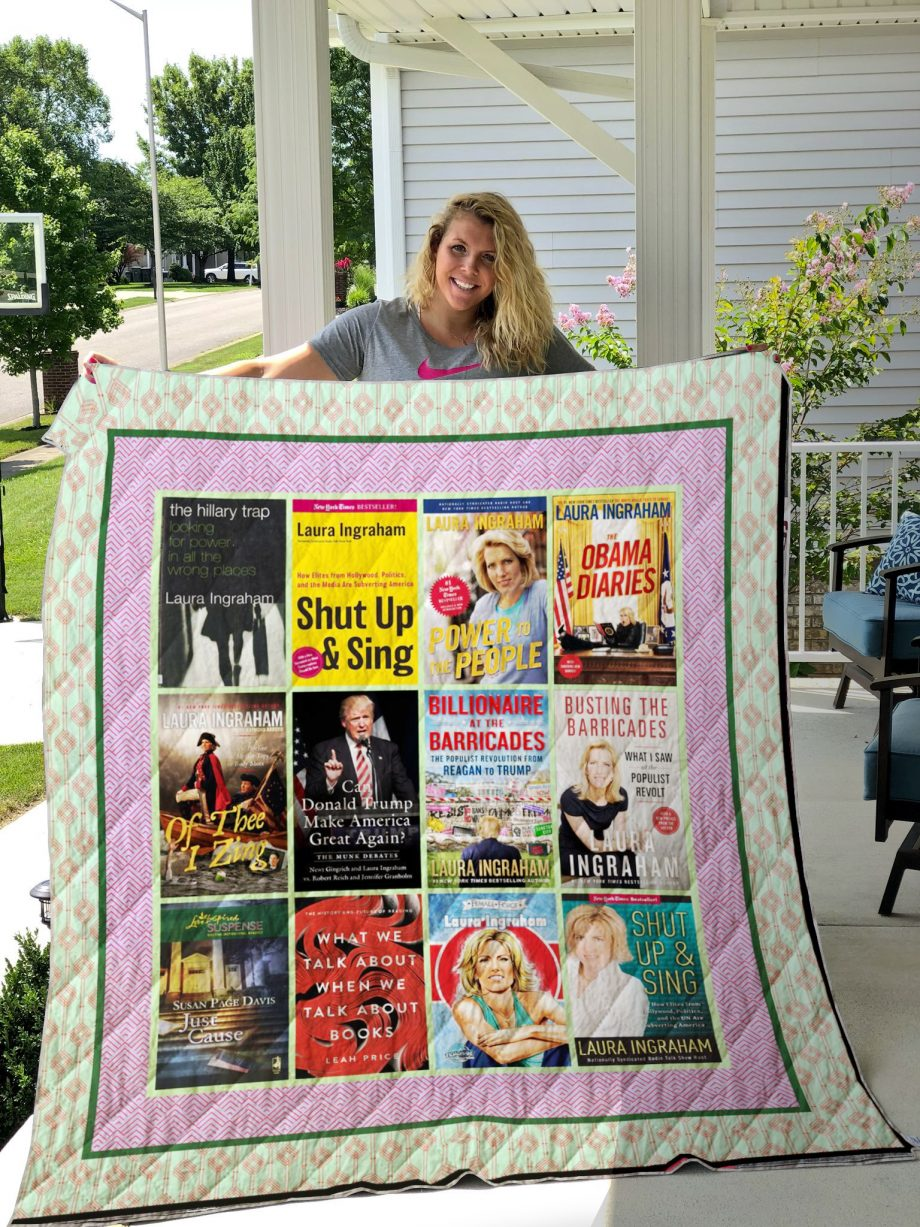 Laura Ingraham Books Quilt Blanket
