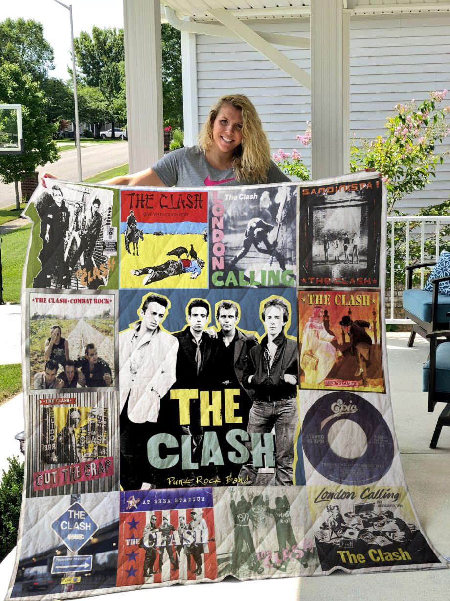 The Clash Style 3 Album Covers Quilt Blanket
