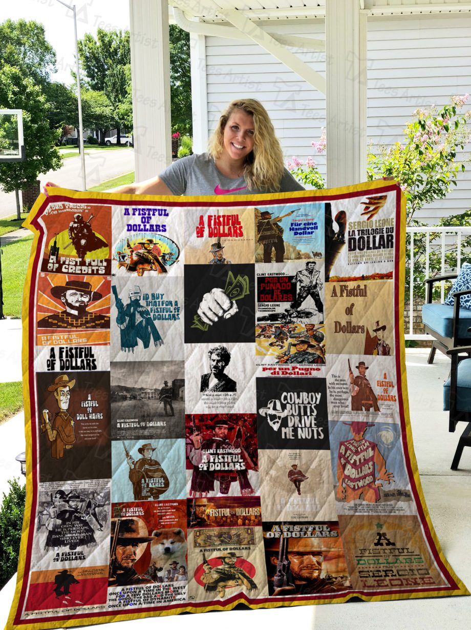 A Fistful of Dollars Quilt Blanket 02375