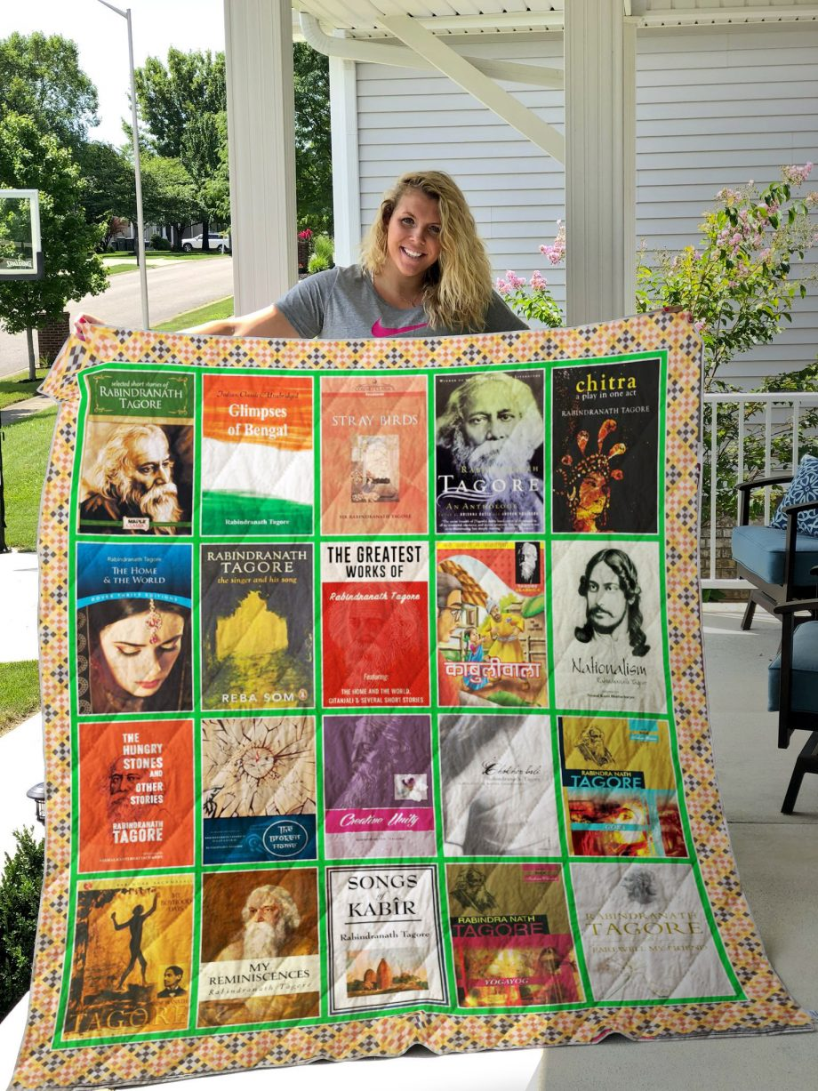 Rabindranath Tagore Books Quilt Blanket