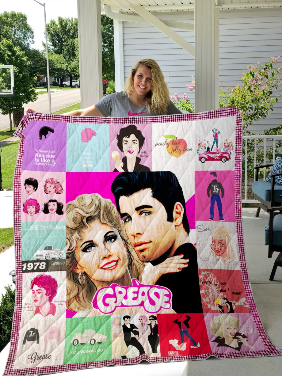 Grease (film) Quilt Blanket