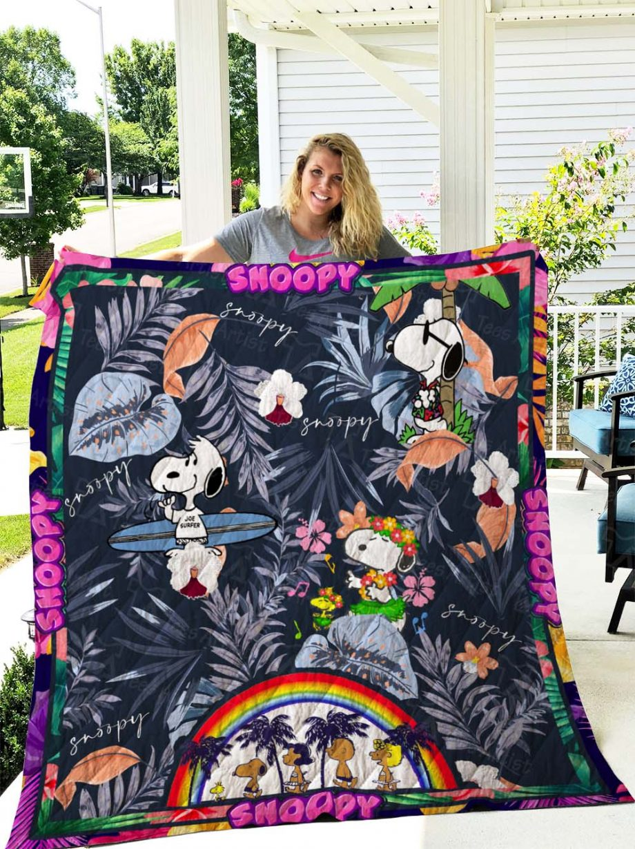 Snoopy Quilt Blanket 02749