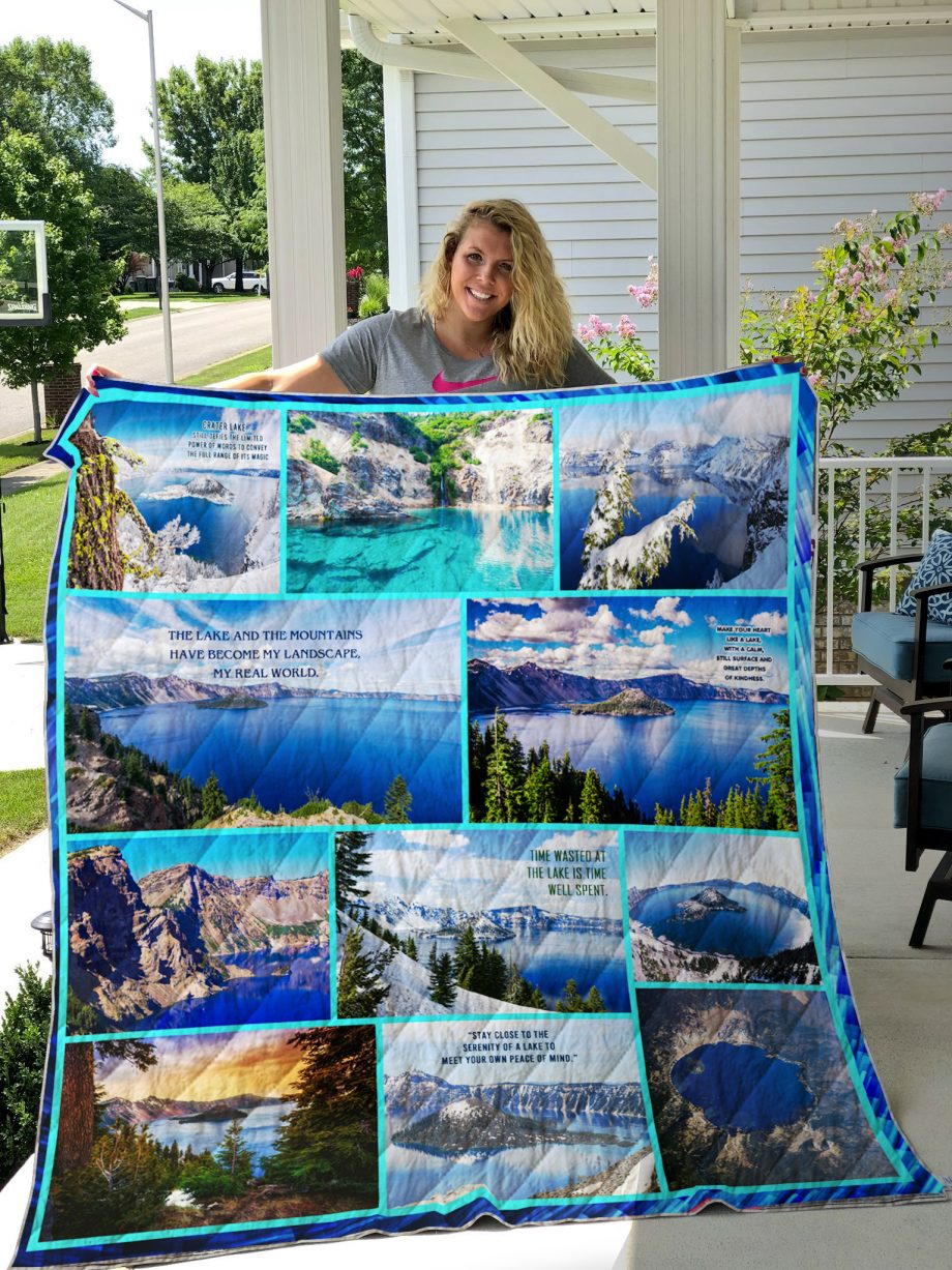 Crater Lake Quilt Blanket