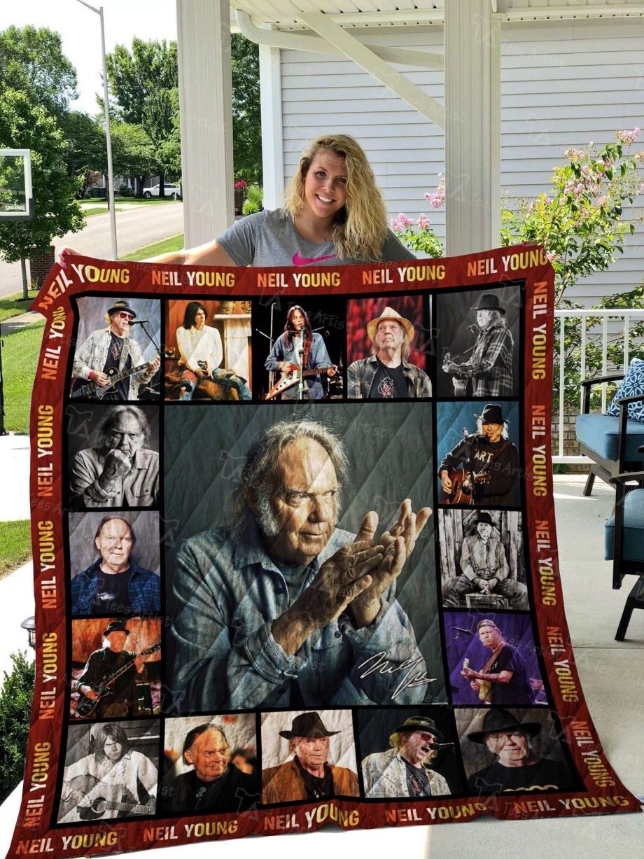 Neil Young Quilt Blanket 02572