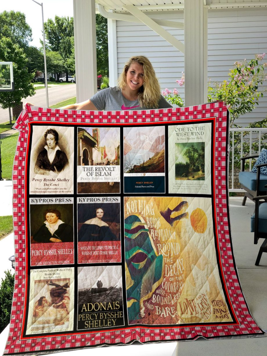 Percy Bysshe Shelley Books Quilt Blanket
